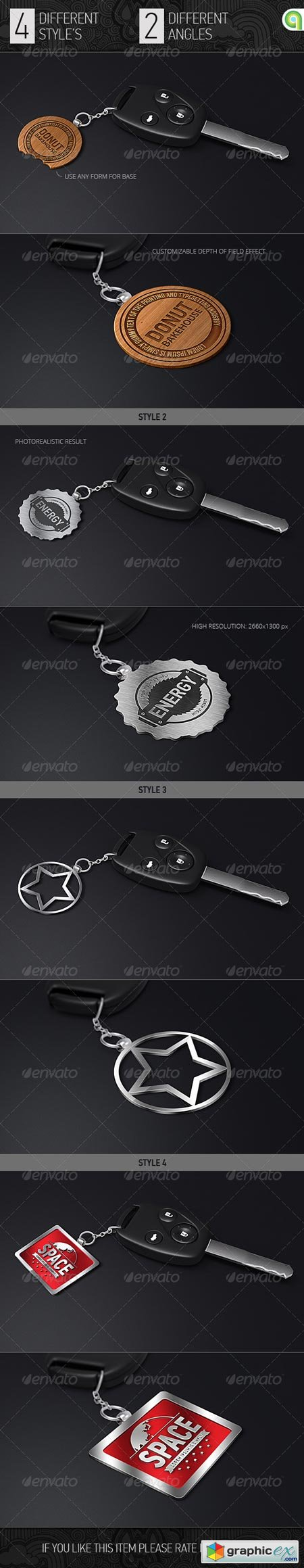 Logo Mock-Up Key Trinket 7609738