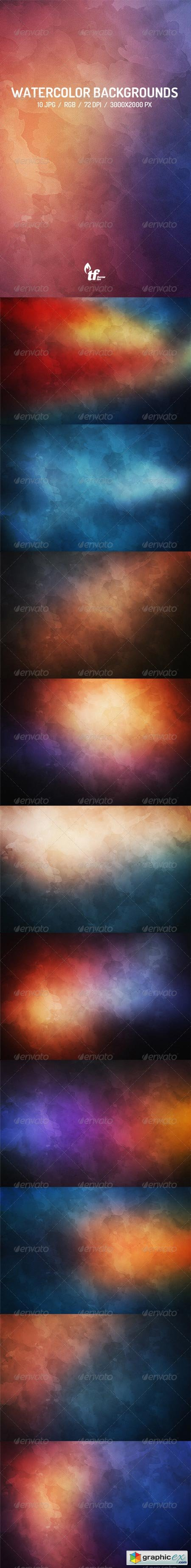 10 Watercolor Backgrounds 7839387