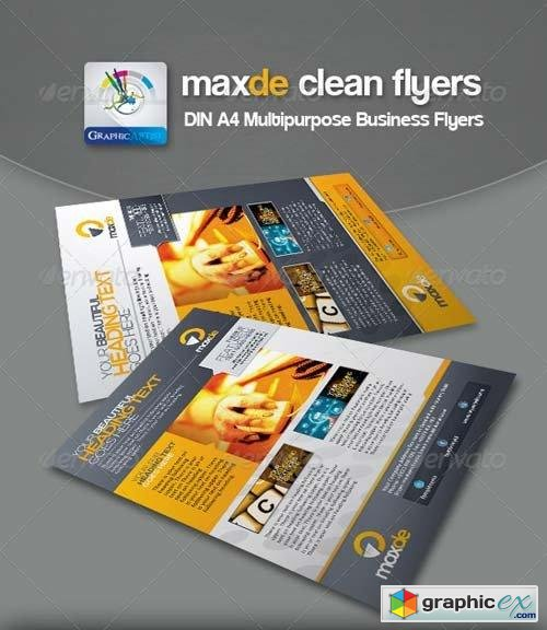 Maxde Clean Business Flyer/Ads