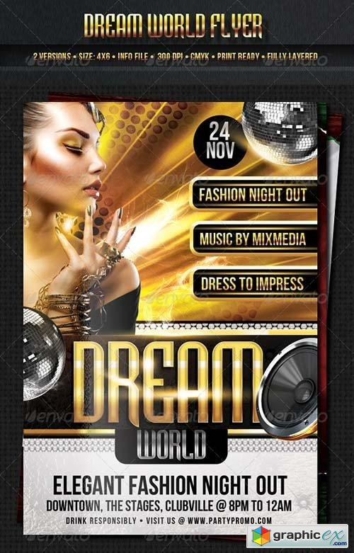 Dream World Flyer Template