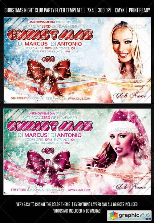 Christmas Night Club Party / Concert Flyer V2
