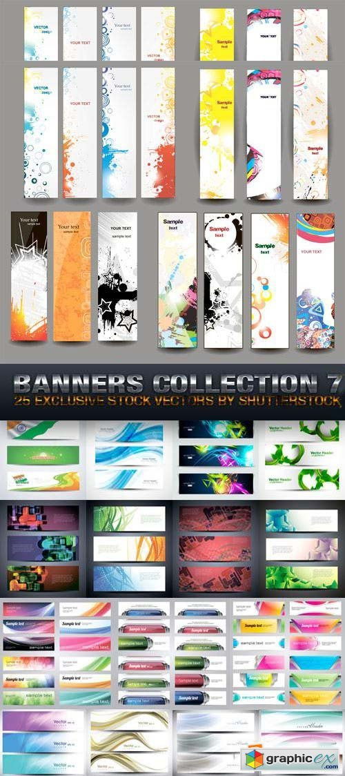 Banners Collection 7, 25xEPS