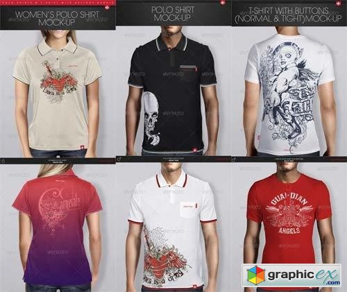 Polo Shirts & T-Shirt with Buttons Bundle