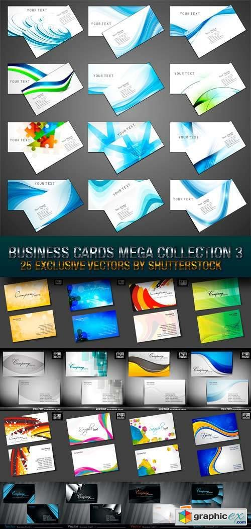 Business Cards Mega Collection 3, 25xEPS
