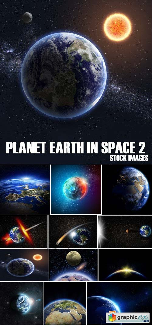 Stock Photos - Planet earth in space 2, 25xJPG