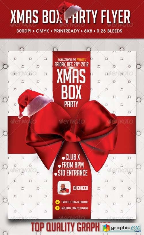 Xmas Box Flyer Template