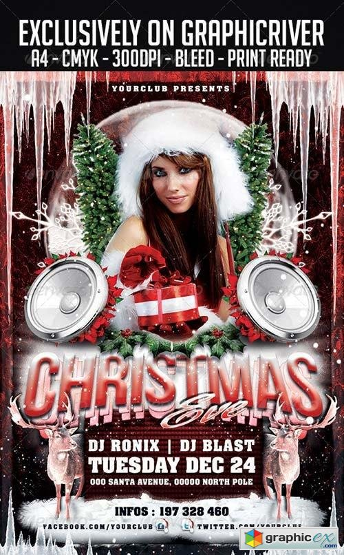 Christmas Eve Flyer Template 6047706