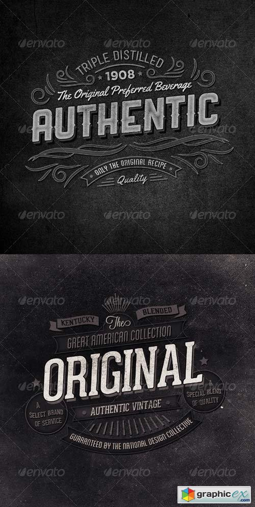 Retro Typographic Insignia and Badges Vol 2