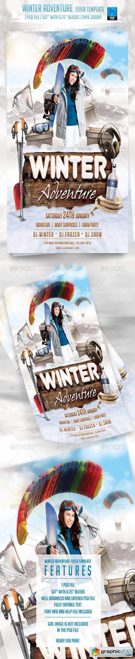 Winter Adventure Flyer Template 6346697