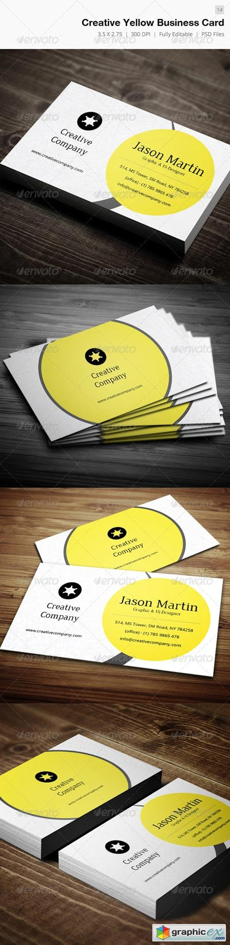 Creative Yellow Business Card - 14 4587483