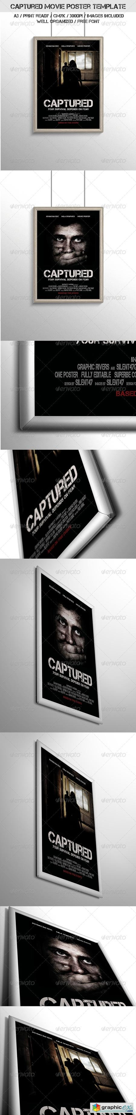 Captured Movie Poster Template 6783007