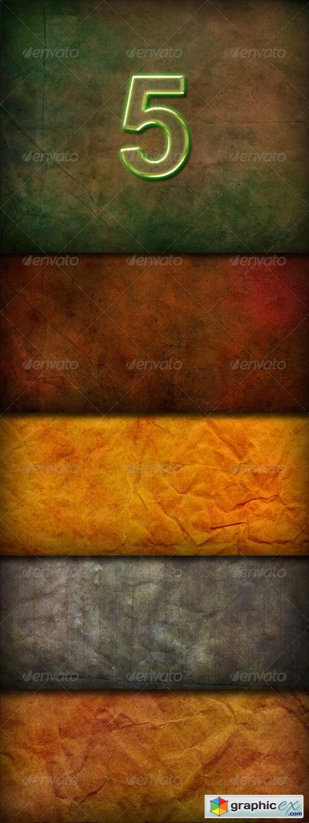 5 Hi-res Paper Textured Backgrounds 161108