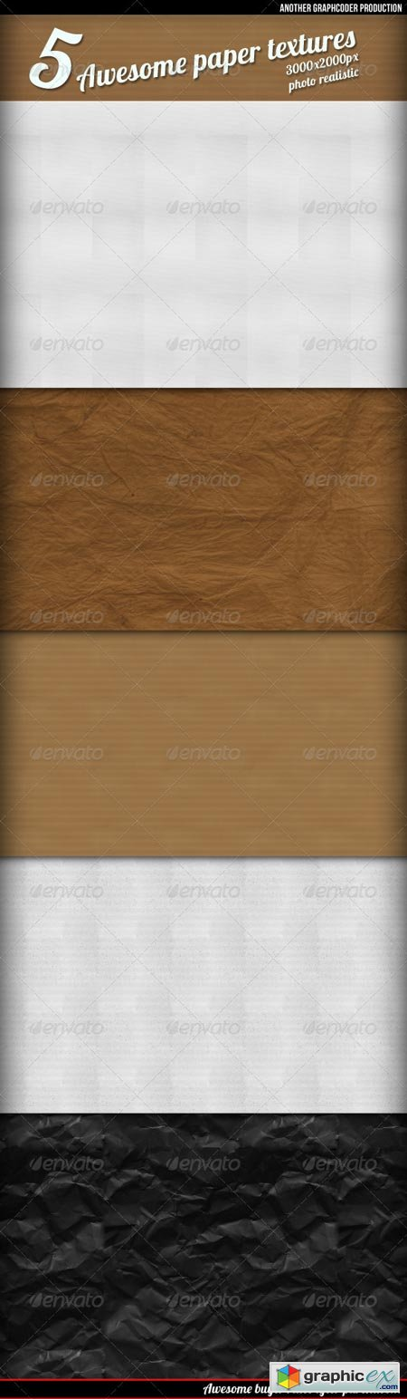 5 Awesome Retro Paper Textures Backgrounds 325944