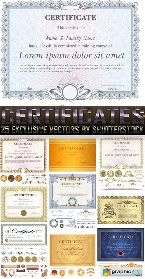 Certificates 25xEPS