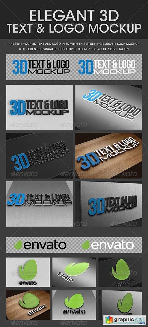 Elegant 3D Text & Logo Mockup » Free Download Vector Stock Image
