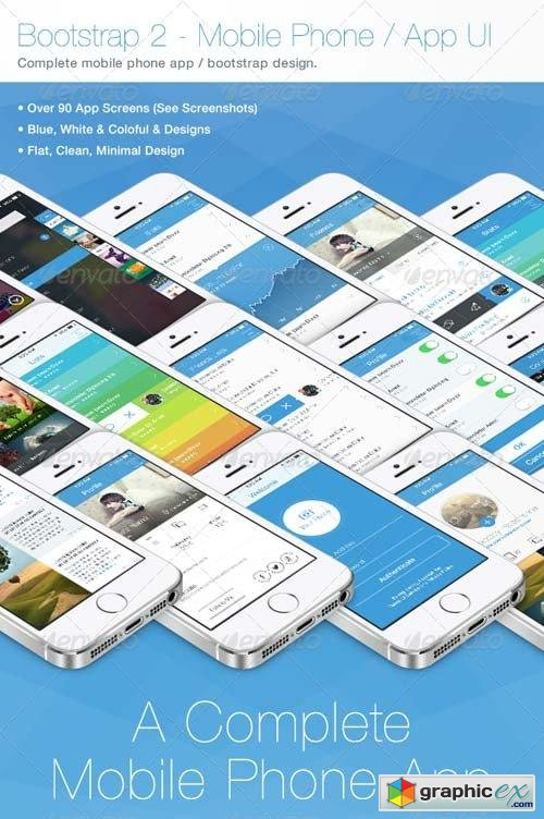 Bootstrap 2 - Flat Mobile Phone - App UI