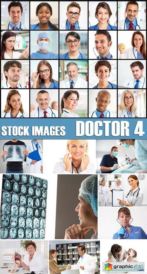 Stock Photos - Doctor 4, 25xJPG