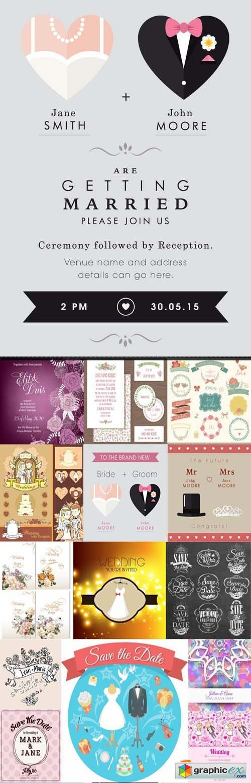 Amazing SS - Wedding Day Template, 25xEPS