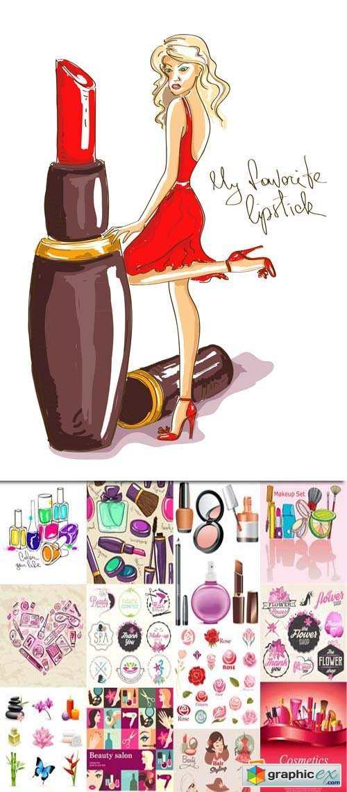 Fashion, beauty and shopping girl2, 25xEPS