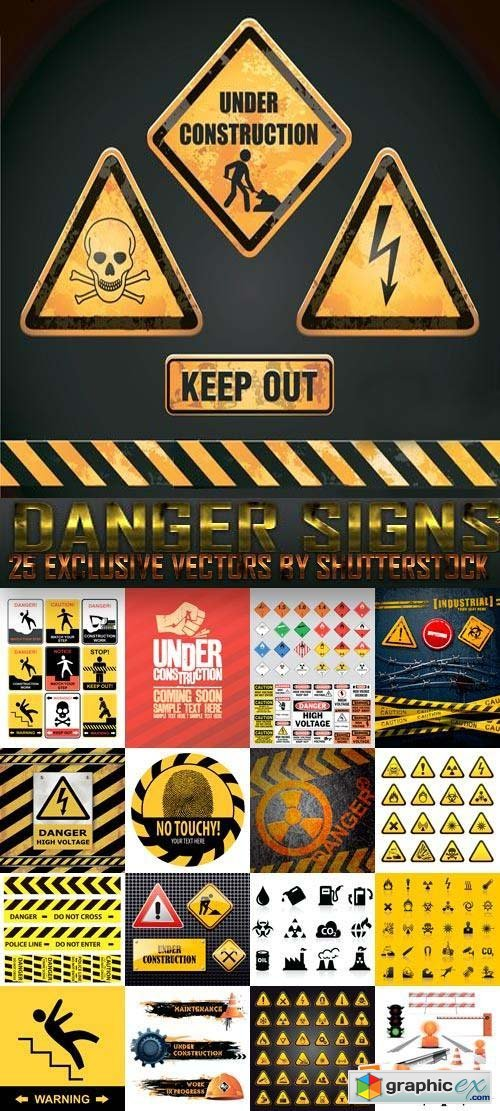 Danger Signs 25xEPS
