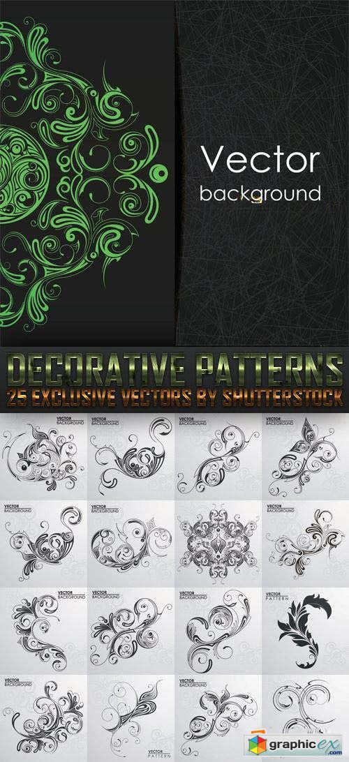 Decorative Patterns 25xEPS