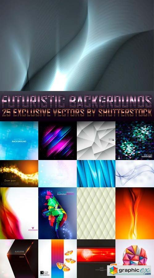 Futuristic Backgrounds 2, 25xEPS