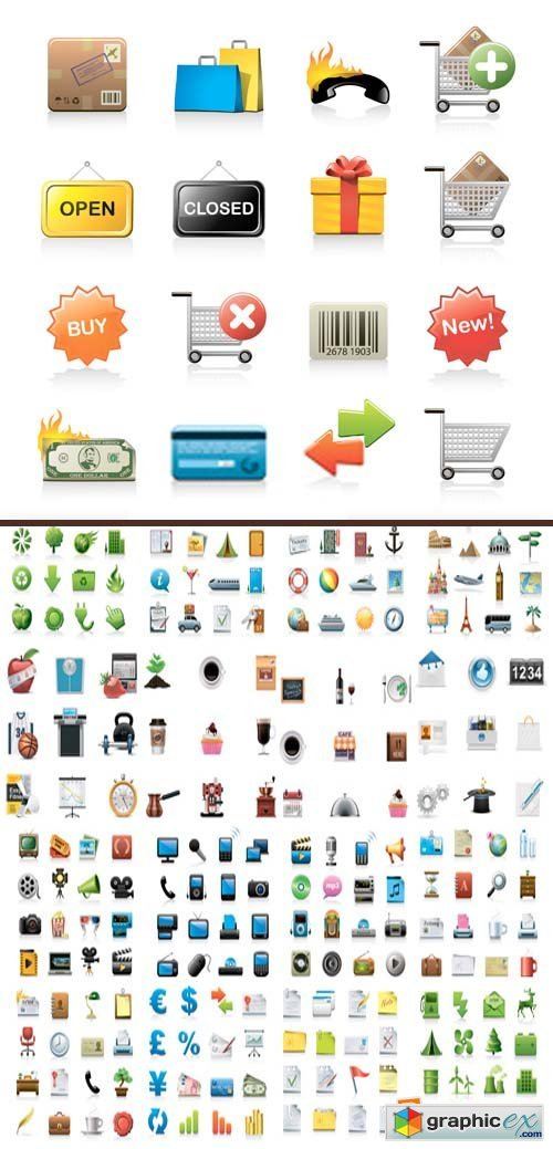 Glossy Web Icons 2, 25xEPS