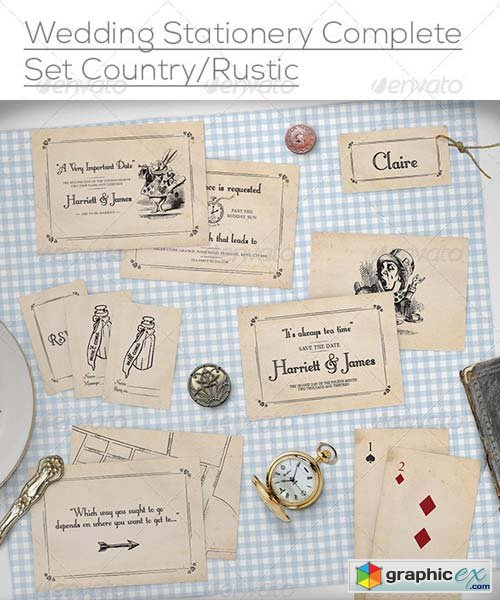 Wedding Stationery Mock-Up Set Rustic/Country » Free