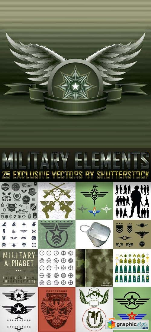Military Elements 25xEPS