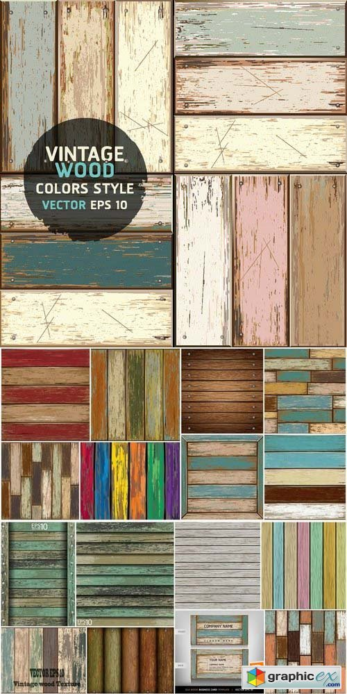 Wood textures in vector set from stock 25xEPS