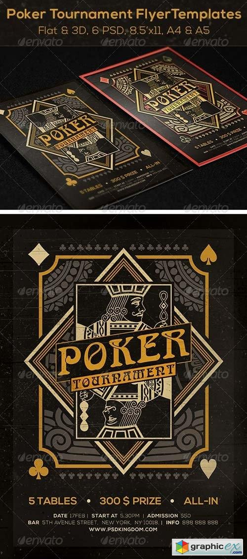 Poker Magazine Ad, Poster or Flyer - Flat & 3D