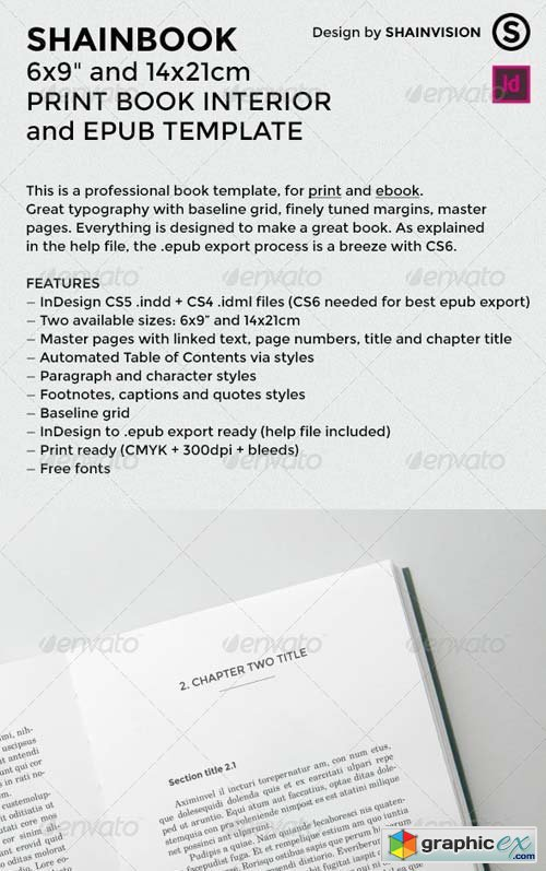 Shainbook - Print Book interior and epub Template » Free