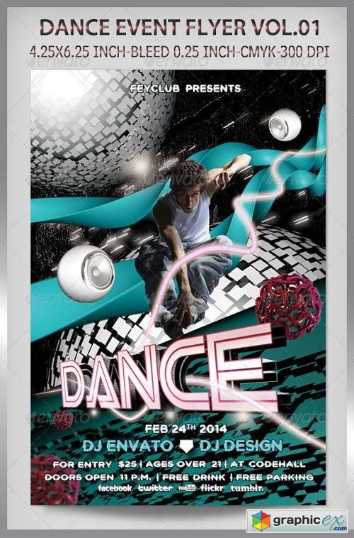 Dance Event Flyer Vol.01