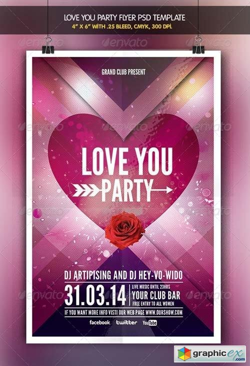 Love You | Valentine Party Flyer