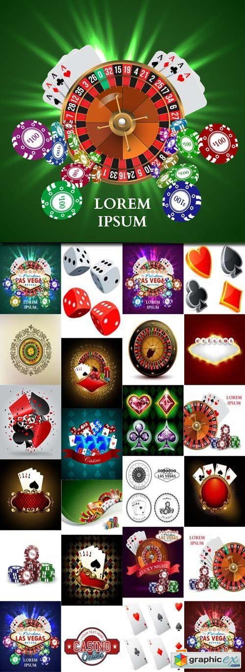 Casino Backgrounds 25xEPS
