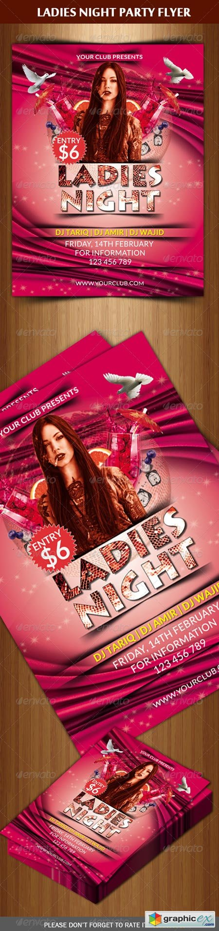 Ladies Night Flyer Template 6559897