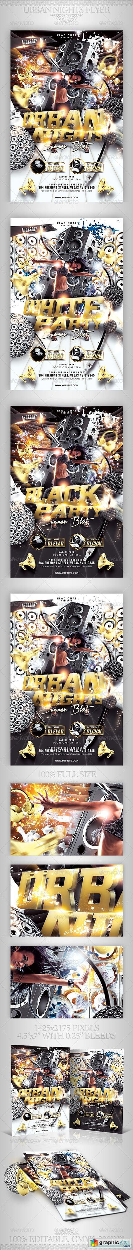Urban Nights Flyer Template 2388549