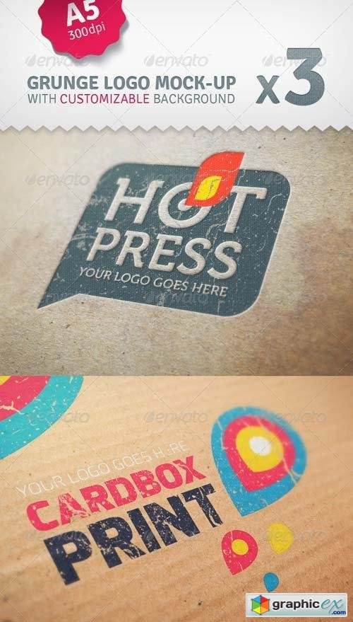 Cardboard Logo Mockup Pack With Custom Backgrounds