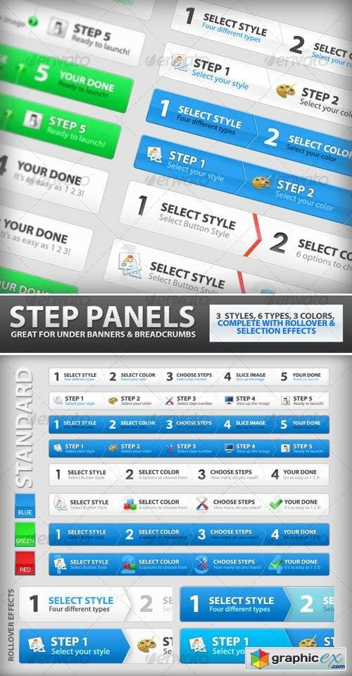Step Process Panels Mega Set - Over 100 Variations