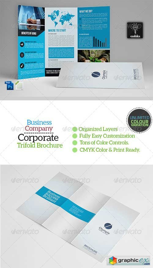 A4 trifold business brochure template vol01 free download vector a4 trifold business brochure template vol01 wajeb Images