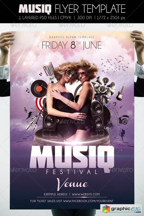 Musiq Flyer Template