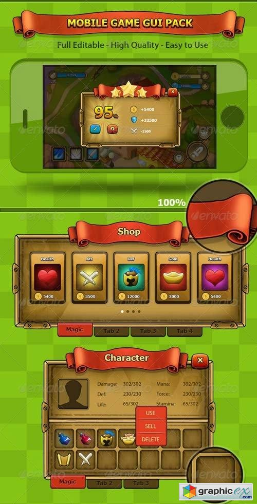 Fantasy - Mobile Game Gui Pack