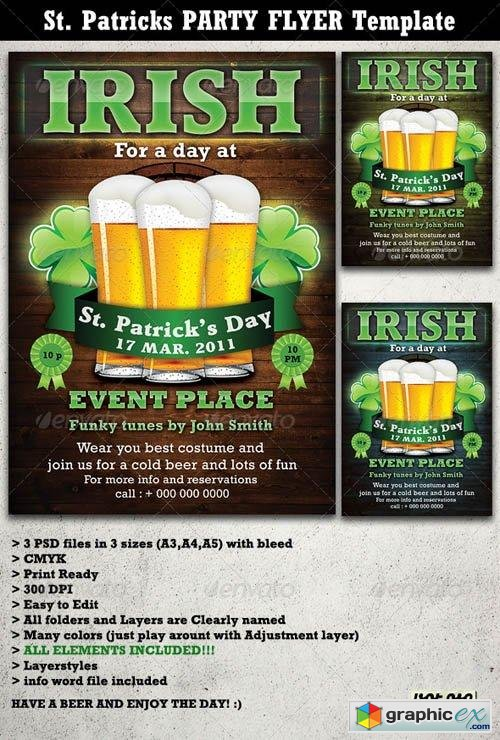 St. Patricks Party Flyer & Poster Template