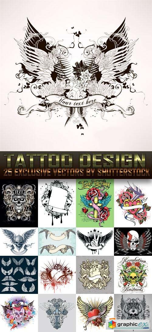 Tattoo Design 3, 25xEPS