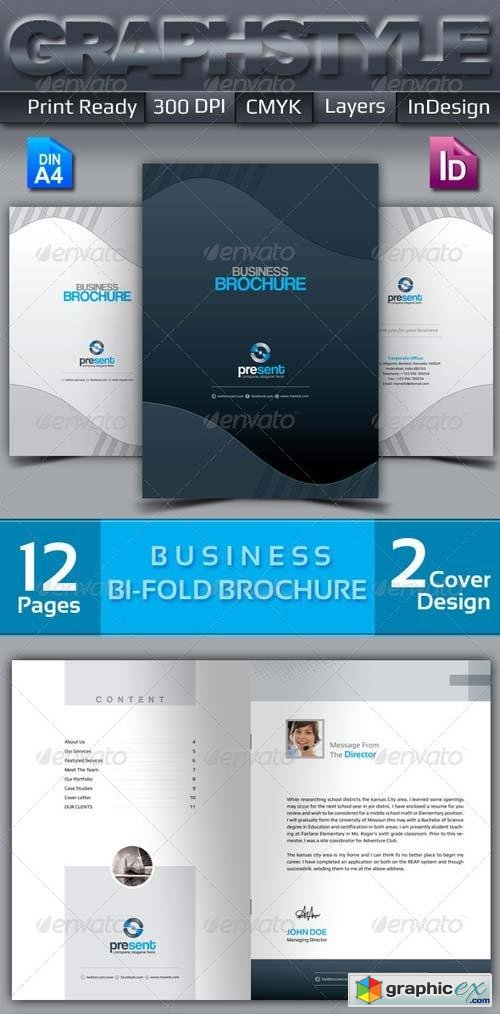 Present_Bi-fold corporate business brochure