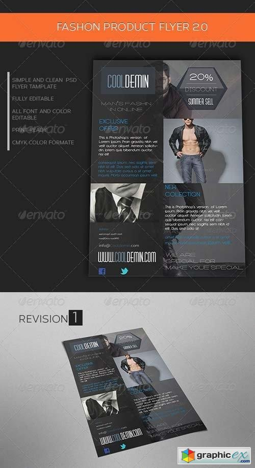 Man's Fashion Product Flyer Template 2.0