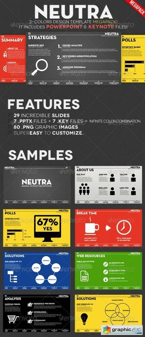 Neutra - Two Colors PowerPoint & Keynote Pack