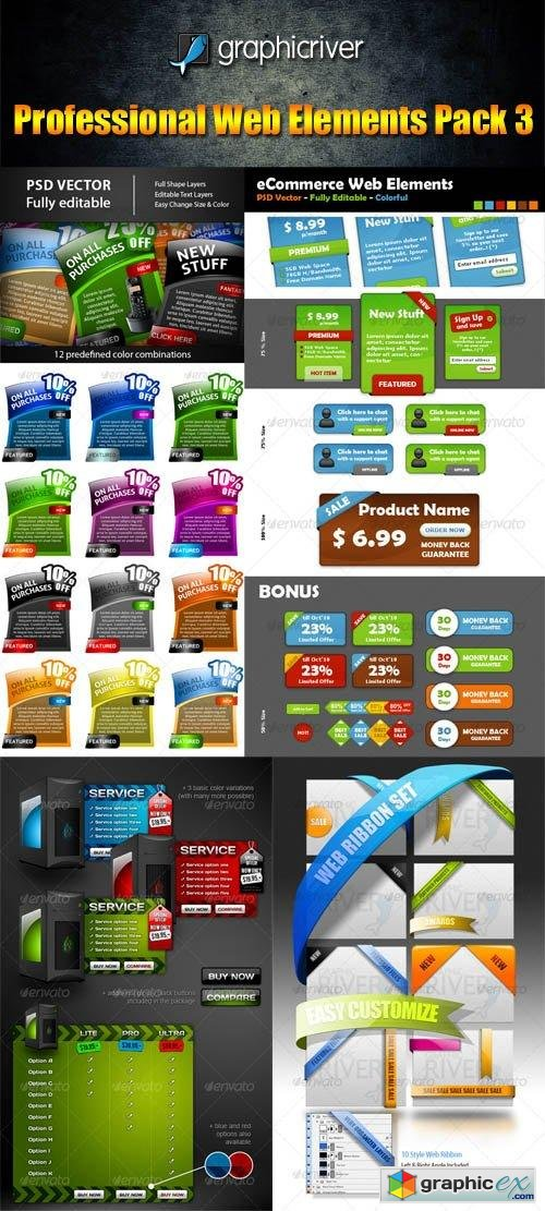 Professional Web Elements Pack 3