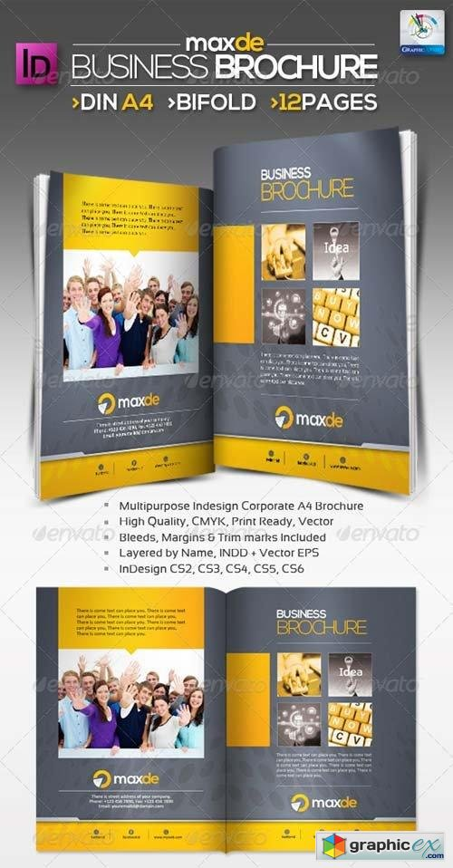Maxde Bifold Clean A4 Brochure 12pages