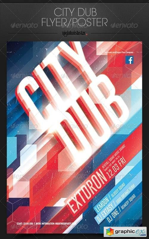City Dub Party Poster/Flyer